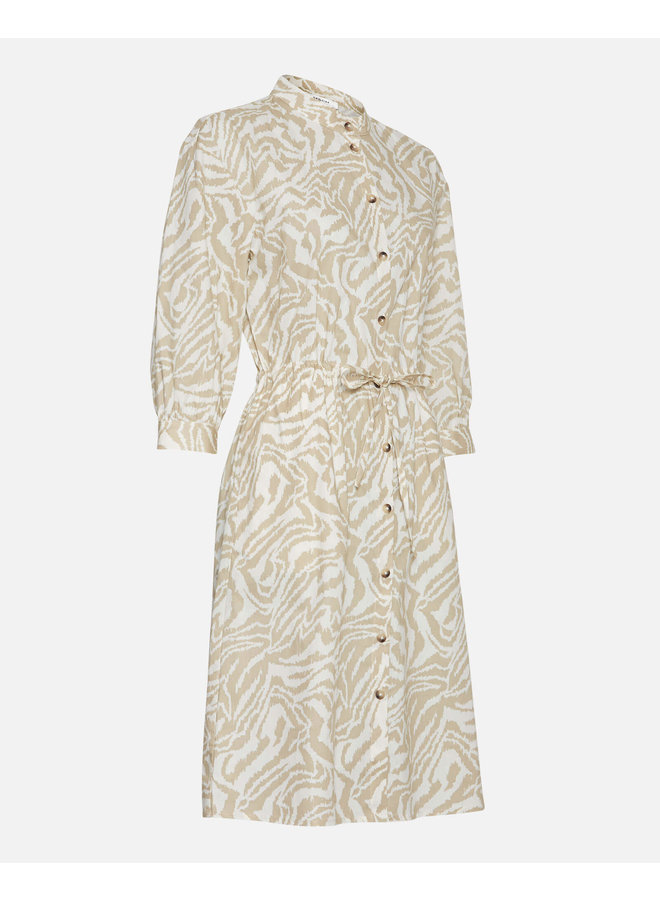 Kacee 3/4 Dress AOP | w pepper zebra