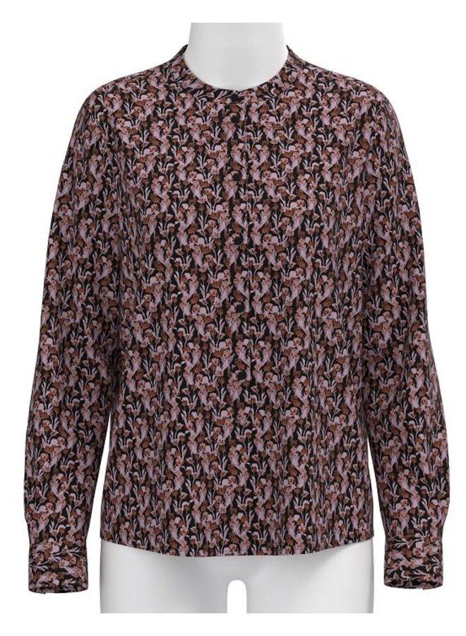 Karola Raye Shirt AOP | blk lavender