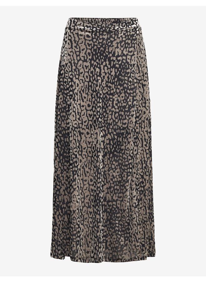 Slkamiko Skirt | light grey leo burn out