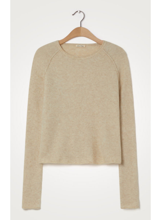 Damsville Pull ML Col Rond DAM18BE21 | sable chine