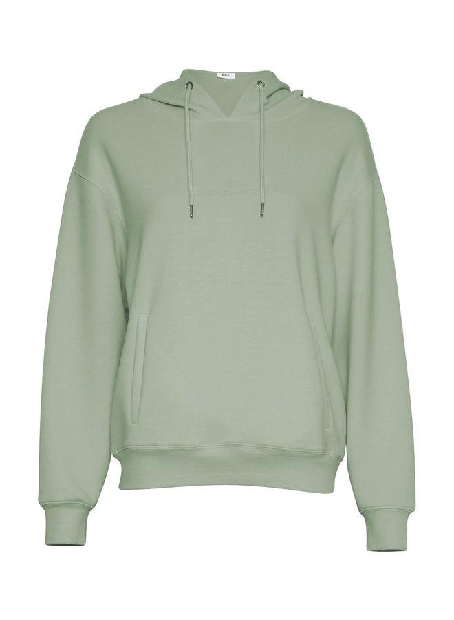 Ima DS Logo Hood Sweatshirt | reseda/reseda