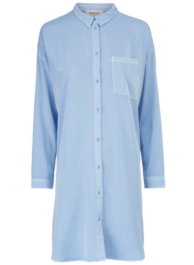 Henry Long Shirt | chambray blue