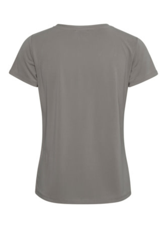 SLColumbine V-neck SS | brushed nickel