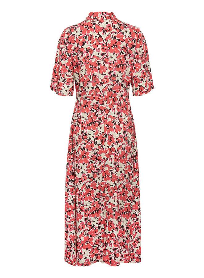 SLIndiana Rafina Shirt Dress SS | multifloral cardinal