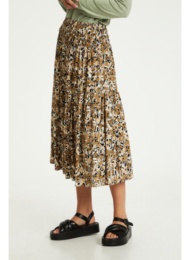 SLIndiana Skirt | multifloral print ermine