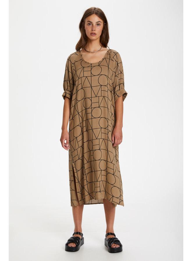 SLMontoya Dress SS | love print ermine