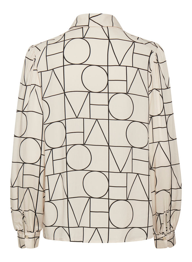 SLMontoya Shirt LS | love print sandshell