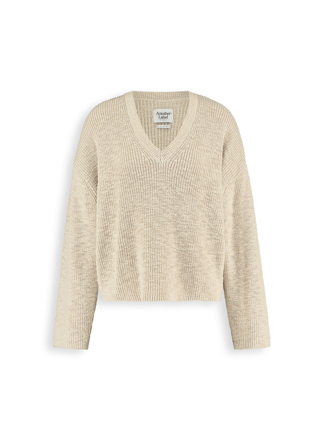 Satsuki knitted pull l/s | beige