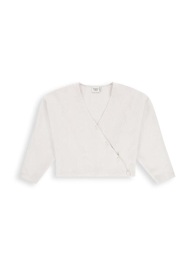 Tei shirt l/s | crystal grey