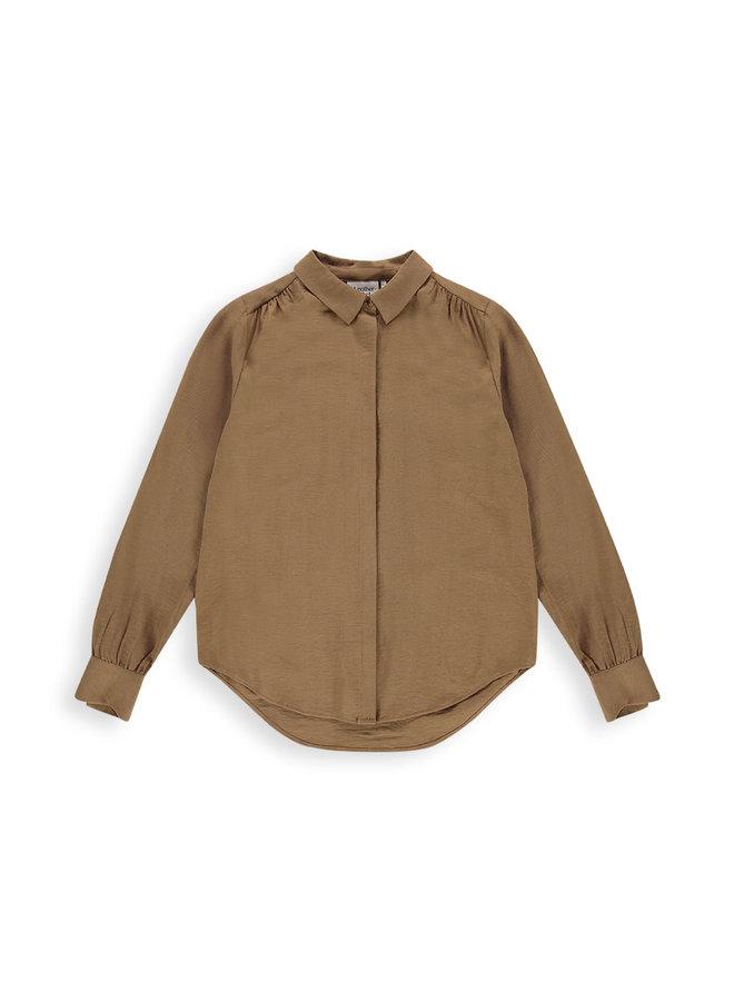 Maple shirt l/s   cinnamon