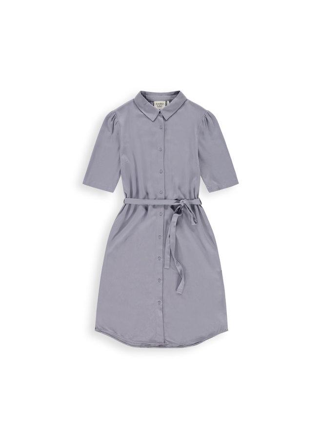 Ryawa dress s/s | silver blue