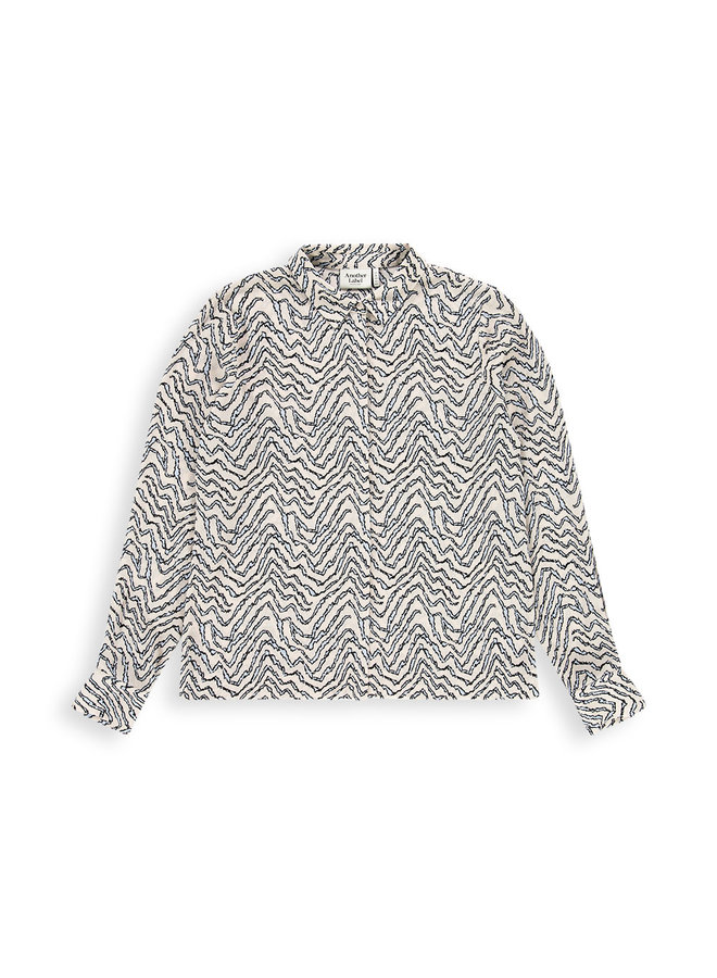 Zaron botanical shirt l/s | crystal botanical