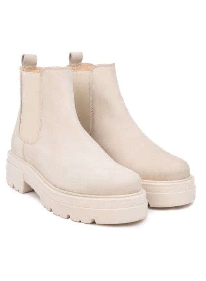 Shari Short Chelsea | beige leather nubuck