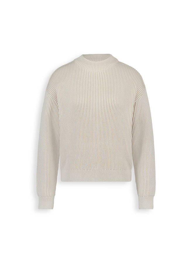 Eliana knitted pull l/s | off-white melee
