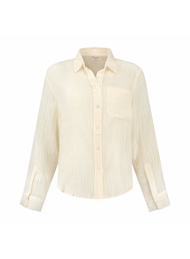 CRYSTAL BLOUSE | off white