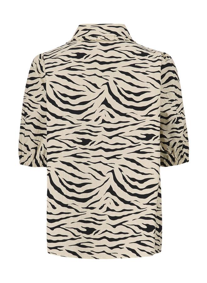 Isha print shirt | zebra