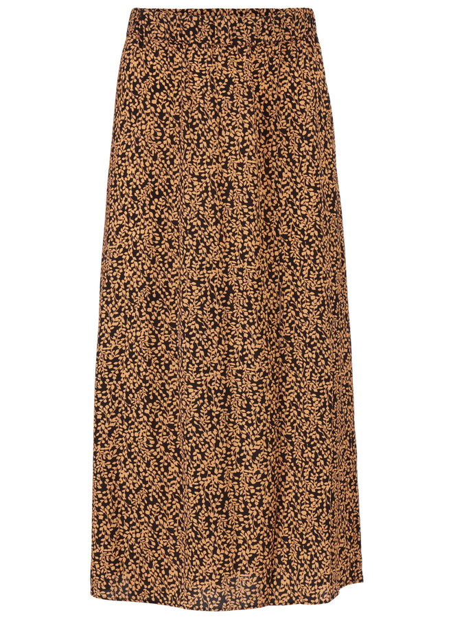 Isabella print skirt | apricot leaf
