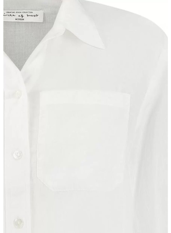 CRYSTAL BLOUSE | cloud white