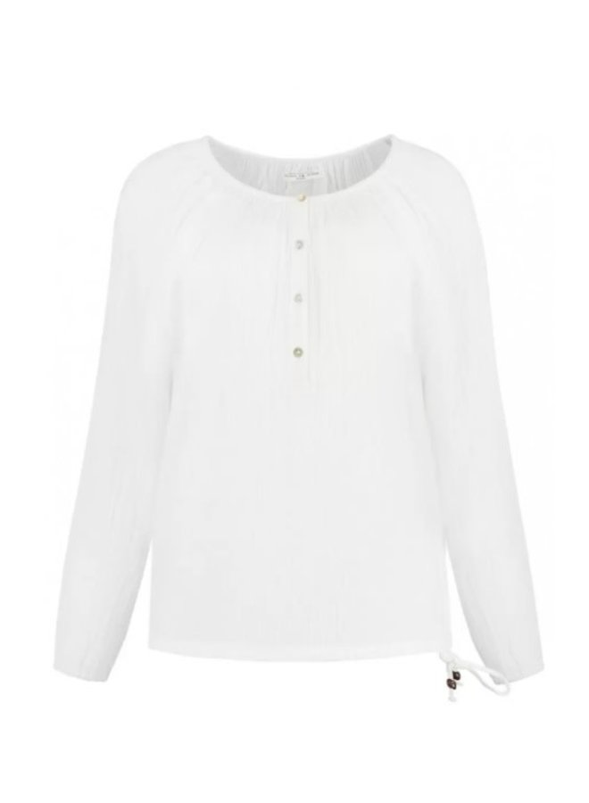 STELLA BLOUSE | cloud white