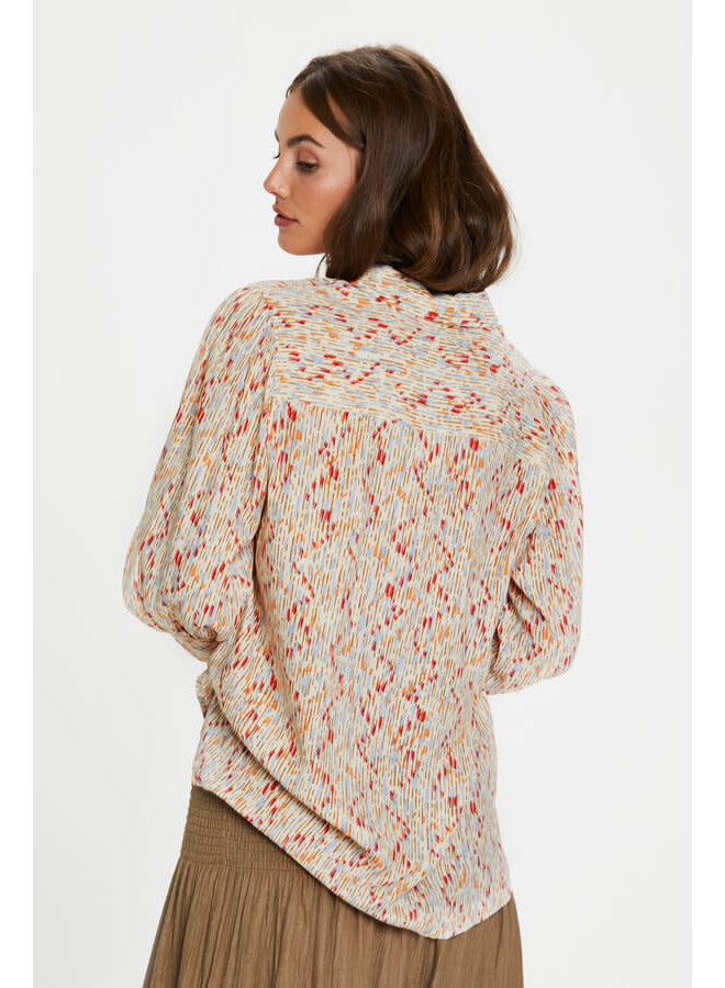 SLElin Shirt 3/4 | whisper white splash print