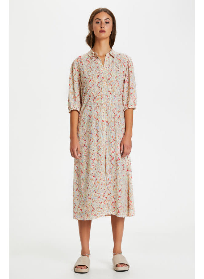 SLElin Brickle Dress SS   whisper white splash print