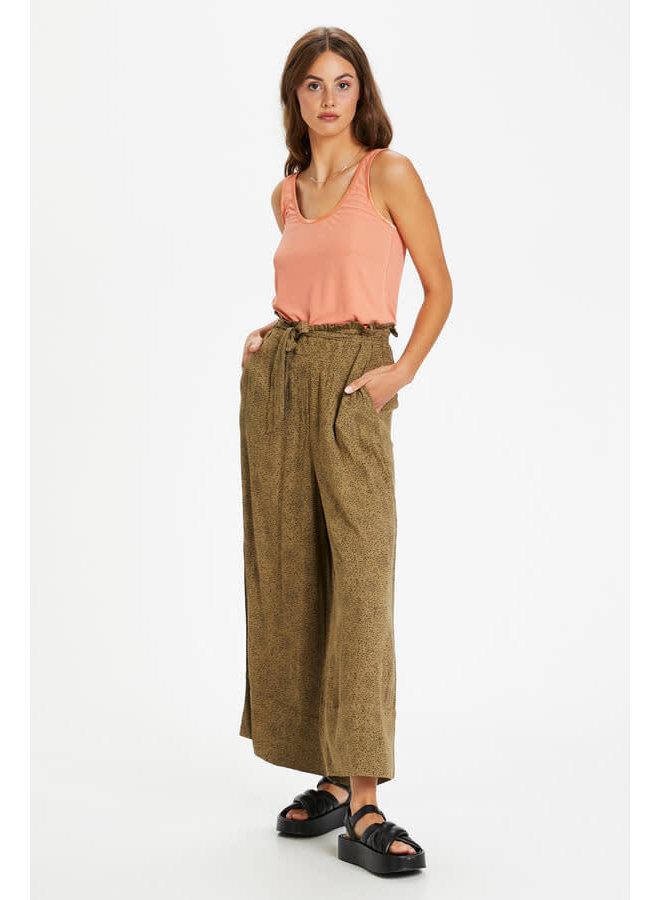 SLZaya Arja Culotte Pants | scattered dot print elmwood