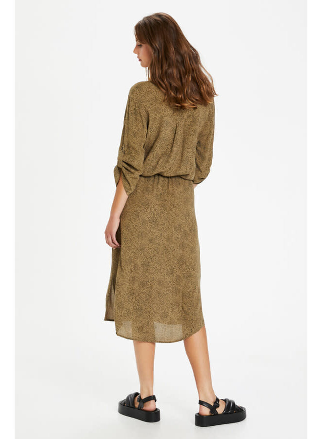 SLZaya Dress | scattered dot print elmwood