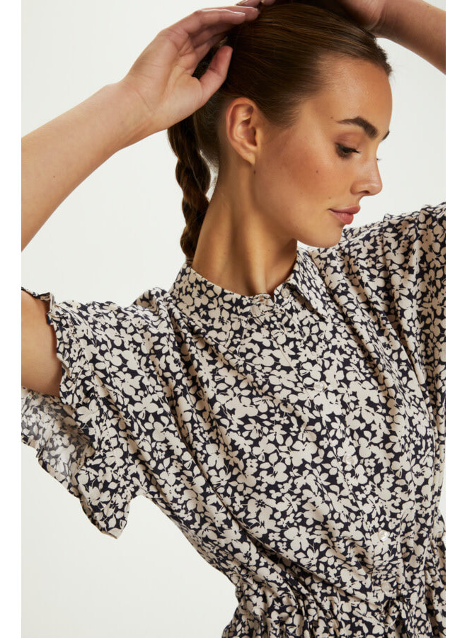 SLSaphira Dress | buttercup print parisian night