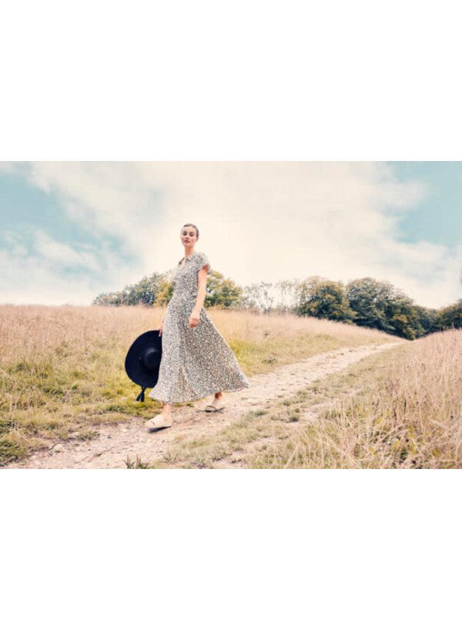 SLArjana Maxi Dress SS | buttercup print parisian night