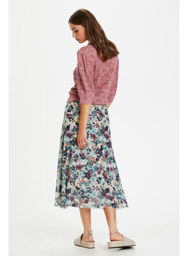 SLMully Skirt | vivid floral print white