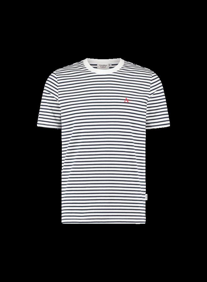 Suez A t-shirt | black iris / white