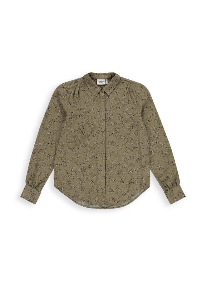 Maple Rock Dot Shirt l/s   green rock dot