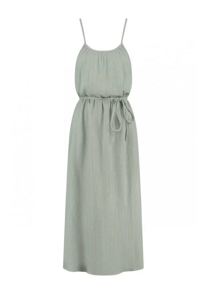 AVA DRESS   faded green