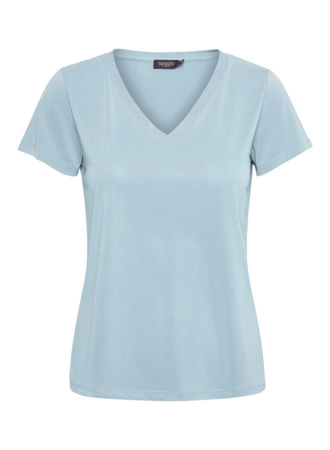 SLColumbine V-neck SS | cashmere blue