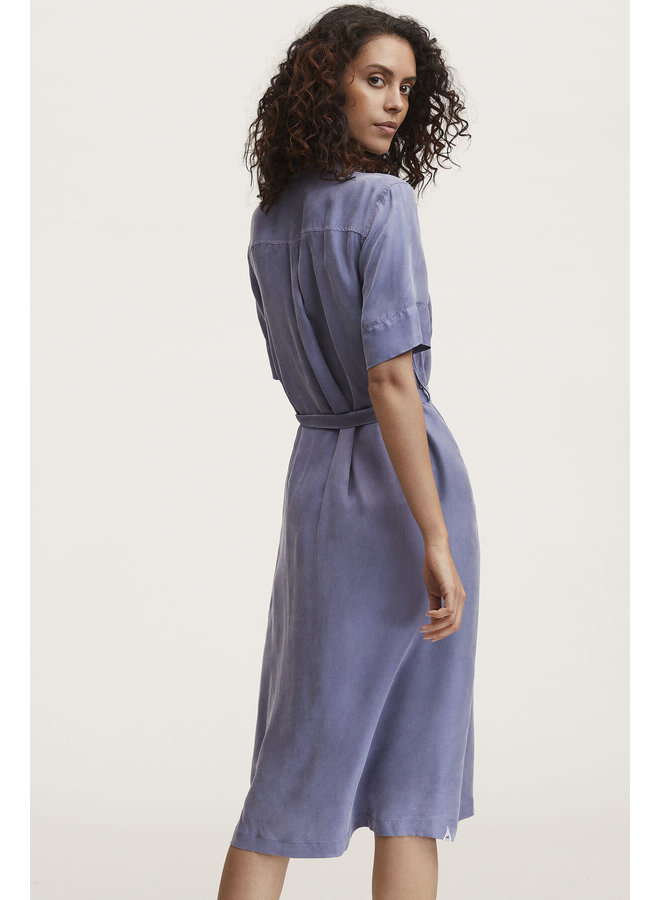 DENISE DRESS MIDI EC | stonewash blue