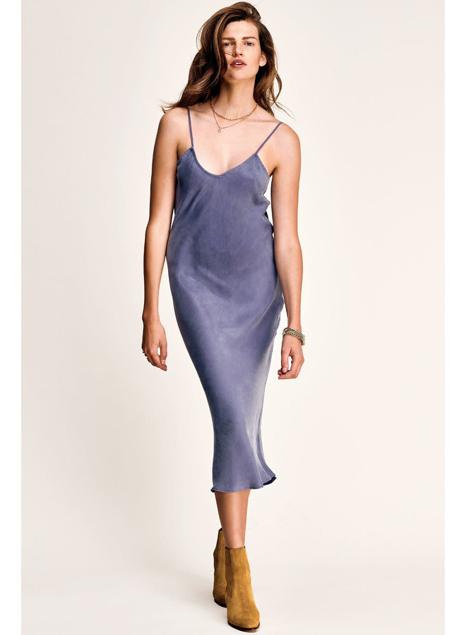 MERYL SLIP DRESS EC   stonewash blue