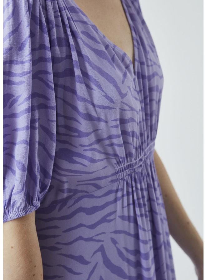 Jemina print dress | lavender zebra