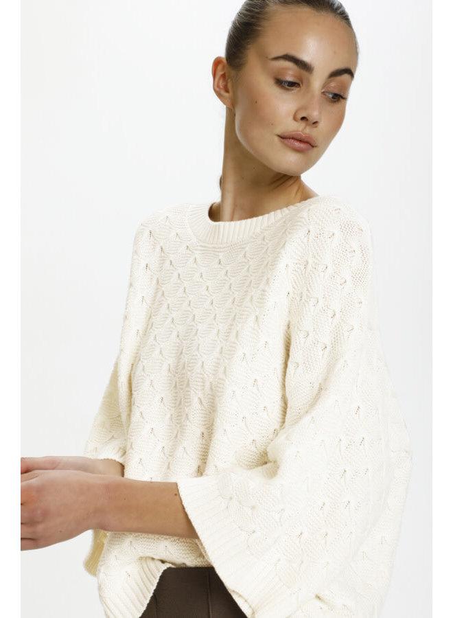 SLRosalie Pullover 3/4   whisper white