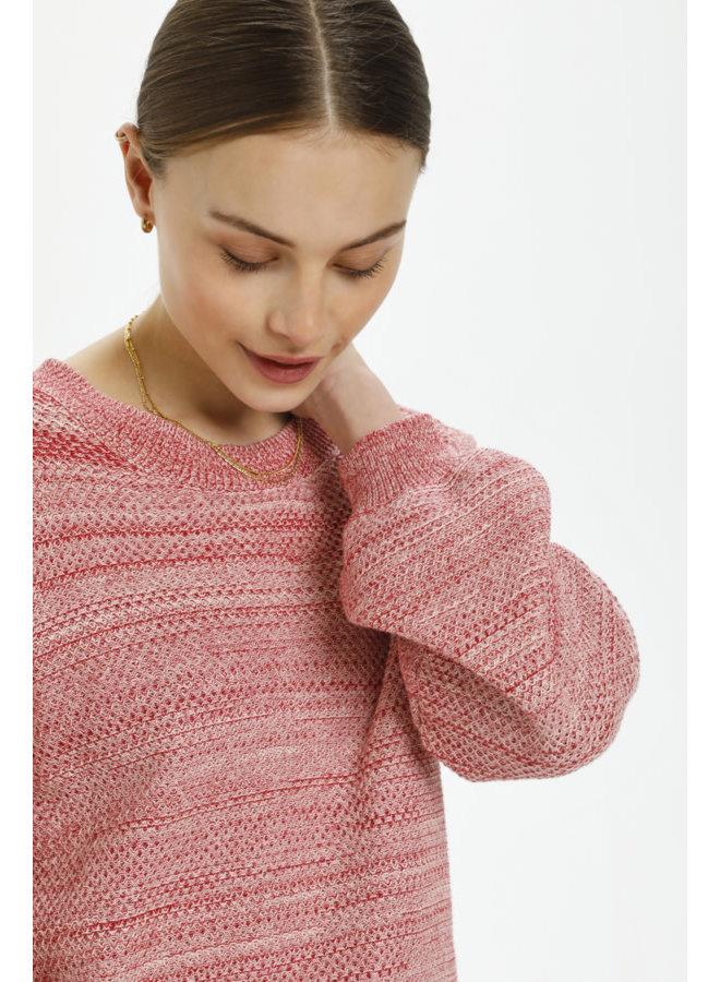 SLLottie Pullover LS | scarlet sage melange