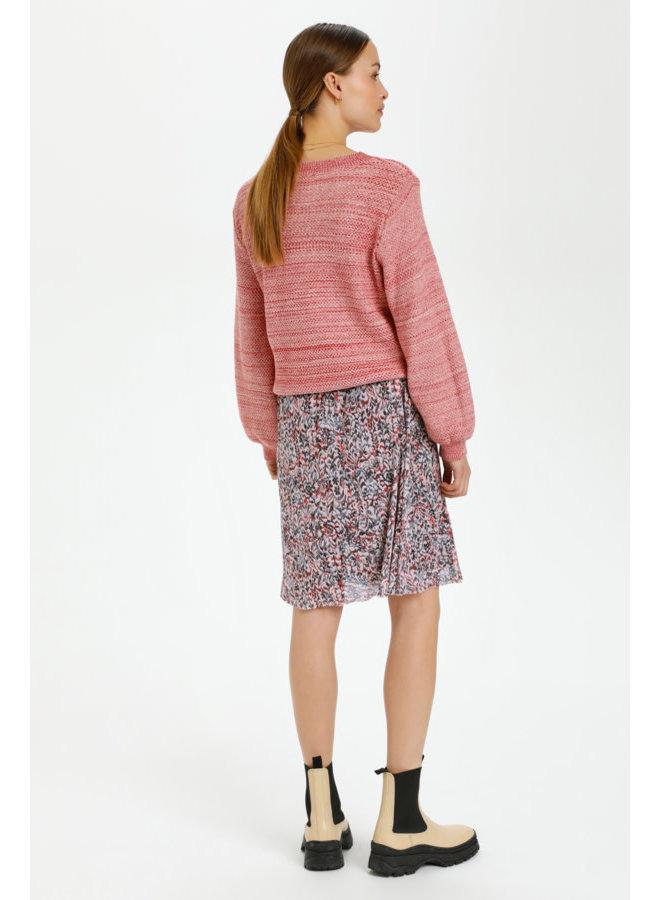SLPoppie Skirt   tapestry print scarlet sage