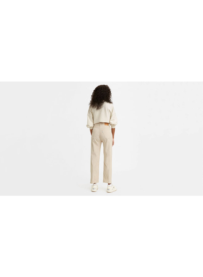 72693-0082 Ribcage Straight Ankle Corduroy Pants | sandshell wide whale