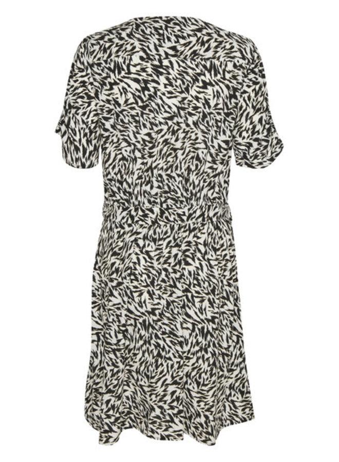 SLArjana Dress SS   preppy animal black