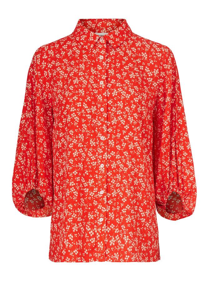 Lotte print shirt | cherry blossom