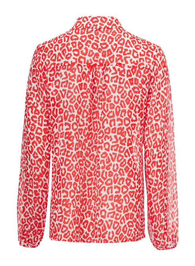Lana print shirt   fire leo