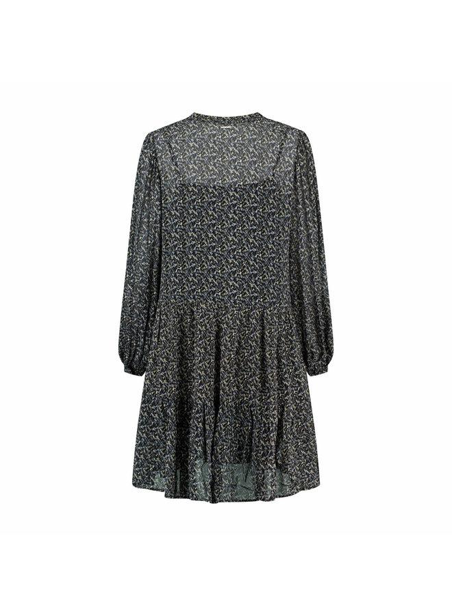 JANIE DRESS | blue water print
