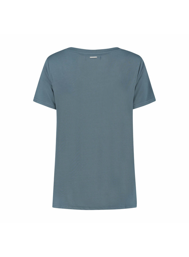 MONICA TEE | bare blue