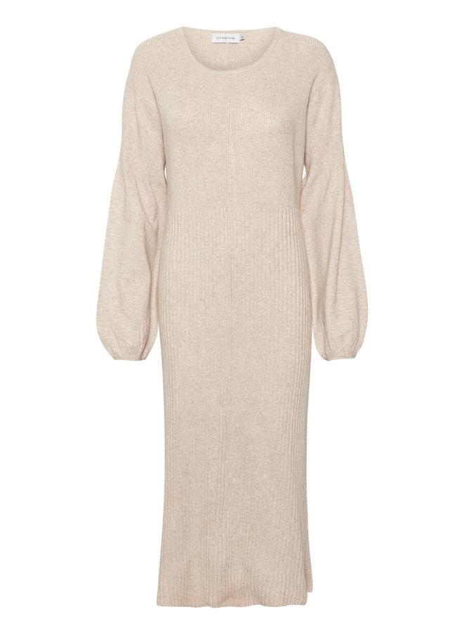 LNNoian Knit Dress EV   oat melange