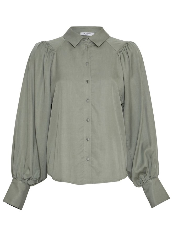 Alivia Stephie LS Shirt | agave green