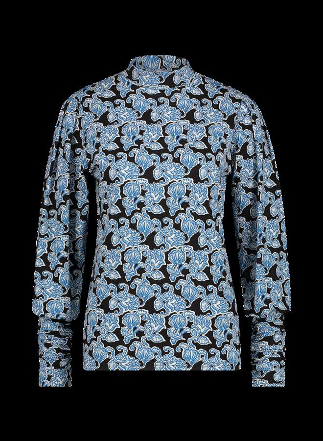 GENA PAISLEY VIS 141   saphire blue dessin