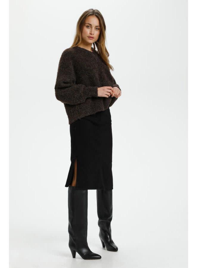 SLAnnette Angel V-Neck Pullover LS | major brown melange